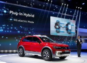 German carmaker Volkswagen introduces the off-road-inspired Tiguan GTE Active Concept at the 2016 North American International Auto Show.