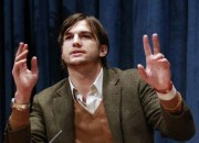 Actor Ashton Kutcher, portraying Apple co-founder Steve Jobs in biopic jOBS, speaks out about cries of