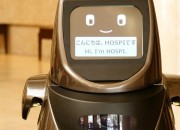 Panasonic's autonomous delievry robot HOSPI shows hospitality in Japan.
