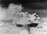 The government in 1945 tested the first atomic bomb in southern New Mexico during World War I, now residents of Tularosa and four other New Mexico counties demand compensation from the government because health records show the atomic bomb test caused untold hardships and cancer-related illnesses down the generations of several families living near the test site area.