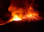 This week, Europe's highest volcano, Mt. Etna, spewed some spectacular light display of lava and ash cloud. Officials say that there is no real danger brough about by the eruption.
