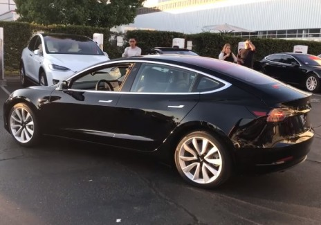 Elon Musk Reveals First Images Of Tesla Model 3 Production Unit On Twitter